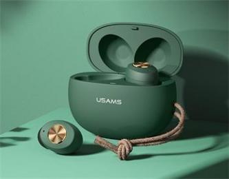 Bezdrátová sluchátka USAMS ES TWS Fashion zelená
