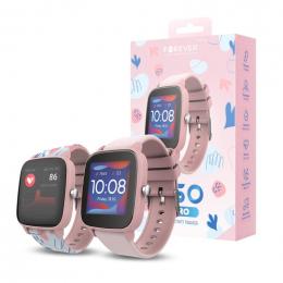 Chytré hodinky Forever (JW-200) IGO Pro růžové