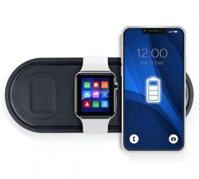 Bezdrátová nabíječka KT-IW 3v1 15W Apple Watch/iPhone/Airpods černá