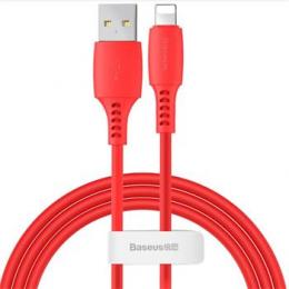 Datový kabel Baseus (CALDC-09) USB-A/lightning  1.2m Colorful 2.4A červený