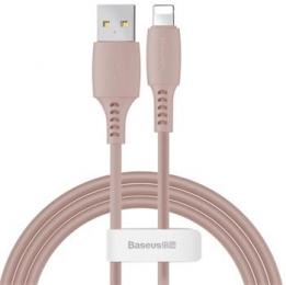 Datový kabel Baseus (CALDC-04) USB-A/lightning 1.2m Colorful 2.4A růžový