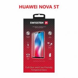 Tvrzené sklo Swissten Full Glue Color Frame pro Huawei Nova 5T černé