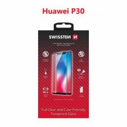 Tvrzené sklo Swissten Full Glue Color Frame pro Huawei P30 černé