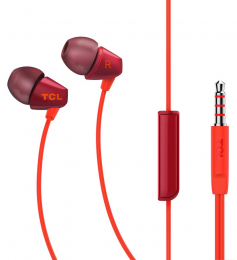 Sluchátka TCL SOCL100 s 3.5mm jack konektorem červená