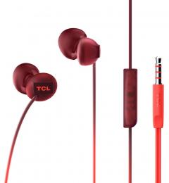 Sluchátka TCL SOCL300 s 3.5mm jack konektorem červená