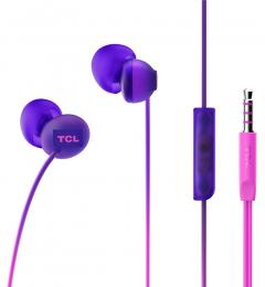 Sluchátka TCL SOCL300 s 3.5mm jack konektorem fialová