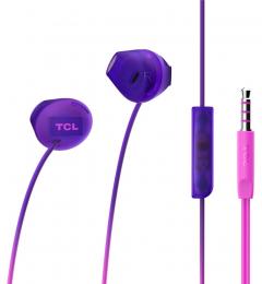 Sluchátka TCL SOCL200 s 3.5 mm jack konektorem fialová