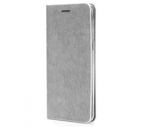 Pouzdro Forcell Luna Book pro Samsung Galaxy S10e stříbrné