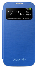 EF-CI950BCE Samsung Flip Pouzdro S-View pro Galaxy S IV (i9500) Light Blue