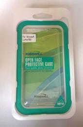 Pouzdro Kisswill TPU Microsoft Lumia 550 bílé