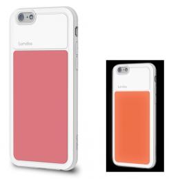 Pouzdro Lumdoo Night Glow pro Apple iPhone 6/6S růžovo bílé
