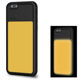 Pouzdro Lumdoo Night Glow pro Apple iPhone 6/6S žluto černé