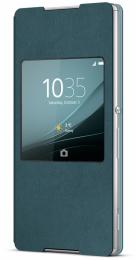 Pouzdro Sony SCR30 Style Cover Window Xperia Z3+, Green