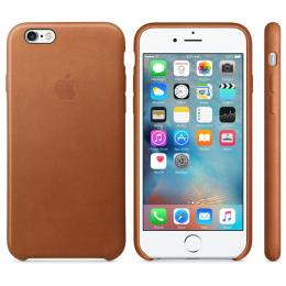 Pouzdro pro Apple iPhone 6/6S MKXT2ZM/A Saddle hnědá kůže