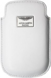 Aston Martin Racing originální kožené pouzdro pro BlackBerry 9900 Bold White