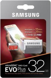 microSDHC 32GB EVO Plus Samsung Class 10 vč. Adapteru (EU Blister)