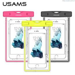 USAMS Luminous Vodotěsné Pouzdro Pink pro Smartphone 5.5