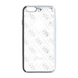 GUHCPSETR4GSI Guess 4G TPU Pouzdro Silver pro iPhone 5/5S/SE