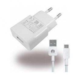 HW-050100E01W Huawei USB Cestovní nabíječka + microUSB Dat. Kabel White (Bulk)