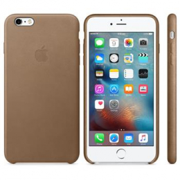 MKX92ZM/A Apple Leather Cover Brown pro iPhone 6/6S Plus (EU Blister)