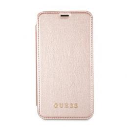 GUFLBKPXIGLTRG Guess Iridescent Book Pouzdro Rose Gold pro iPhone X