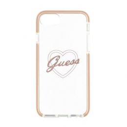 GUHCI8SHPI Guess ShockProof Zadní Kryt Pink Heart pro iPhone 7/8