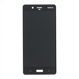 Nokia 8 Dotyková Deska + LCD Display Black