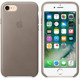 MPT62ZM/A Apple Leather Cover Taupe pro iPhone 7/8 (EU Blister)