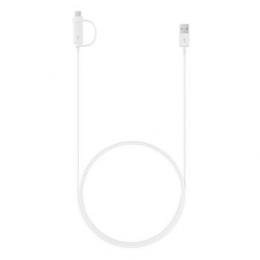 EP-DG930DWE Samsung Combo Type C/microUSB Datový Kabel White (Bulk)
