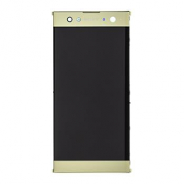 LCD Display + Dotyková Deska + Přední Kryt Gold Sony H4213 Xperia XA2 Ultra (Service Pack)