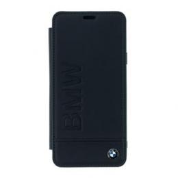 BMFLBKS9LLLSB BMW Signature Real Leather Book Case Black pro Samsung G965 Galaxy S9 Plus