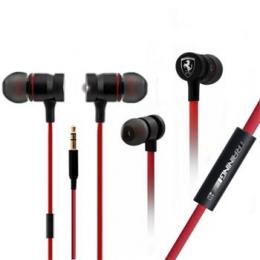 FETEPWIRE Ferrari Training Stereo Earphone Red (EU Blister)
