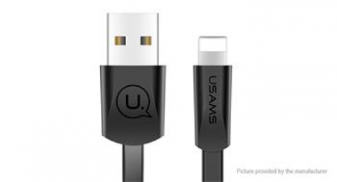 USAMS SJ199 Flat Datový Kabel Lightning 2A Black (EU Blister)