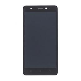 Lenovo A7000 LCD Display + Dotyková Deska + Přední Kryt Black