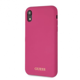GUHCI61LSGLPI Guess Silicone Gold Logo Pouzdro Pink pro iPhone 6.1
