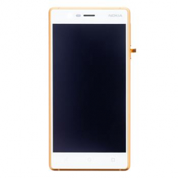 Nokia 3 Dotyková Deska + LCD Display Copper (Service Pack)