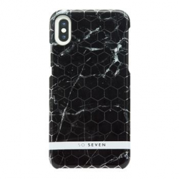 SoSeven Milan Case Hexagonal Marble Black Kryt pro iPhone X/XS