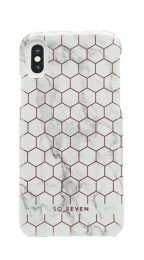 SoSeven Fashion Milan Hexagonal Marble White/Rose Gold pro iPhone X/XS