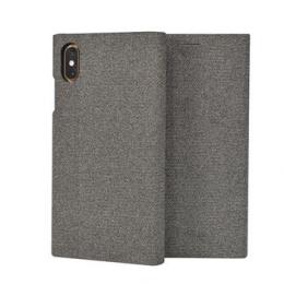 SoSeven Premium Gentleman Book Case Fabric Grey pro iPhone XS Max
