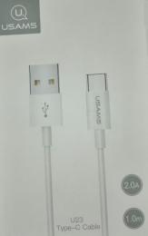USAMS SJ285 Datový Kabel Type C White