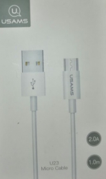 USAMS SJ284 Datový Kabel microUSB White (EU Blister)