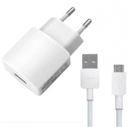HW-050200E01W Huawei USB Cestovní nabíječka + microUSB Dat. Kabel White (Bulk)