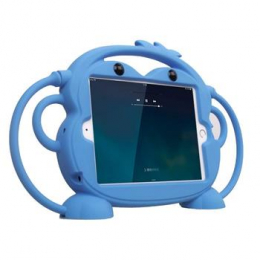 Cartoon Monkey Pouzdro Light Blue pro iPad Mini 1/2/3/4 7.9