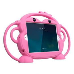 Cartoon Monkey Pouzdro Pink pro iPad Mini 1/2/3/4 7.9