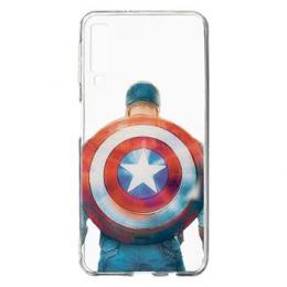 MARVEL Captain America 002 Zadní Kryt pro Samsung A750 Galaxy A7 2018 Transparent