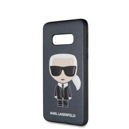 KLHCS10LIKPUBL Karl Lagerfeld Ikonik Full Body PC/TPU Pouzdro pro Galaxy S10e Blue