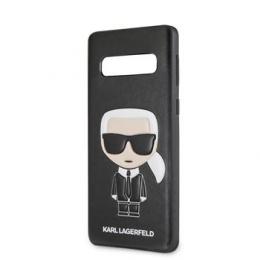 KLHCS10IKPUBK Karl Lagerfeld Ikonik Full Body PC/TPU Pouzdro pro Galaxy S10 Black