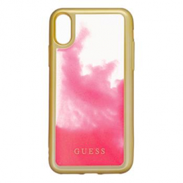 GUHCPXGLTRPI Guess Glow in The Dark PC/TPU Pouzdro pro iPhone X/XS Gold/Pink