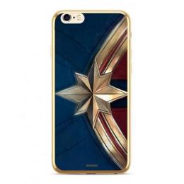 MARVEL Captain Marvel 001 Kryt pro iPhone XS Max Gold
