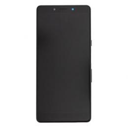 LCD Display + Dotyková Deska + Přední Kryt Sony I4312 Xperia L3 Black/Black (Service Pack)